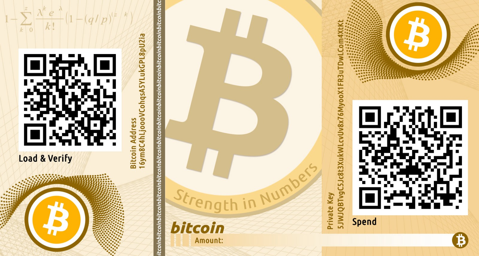 billetera de papel para bitcoin
