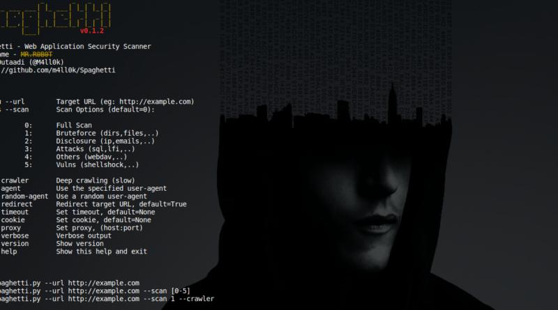 spaghetti web application security scanner